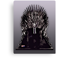 Underwood on the Iron Throne Canvas Print