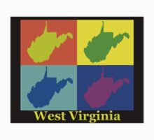 Colorful West Virginia Pop Art Map Kids Clothes