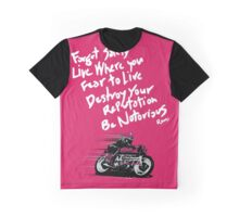 Be Notorious in Pink Graphic T-Shirt