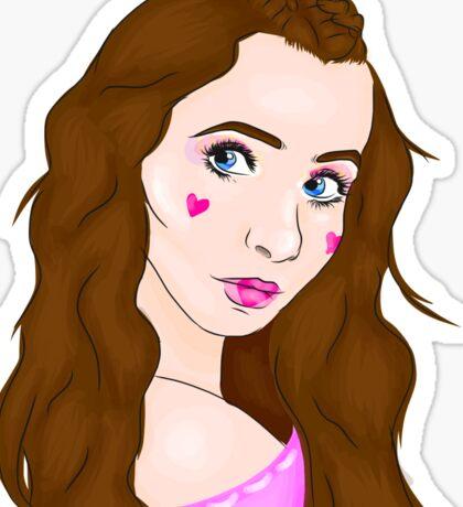 Dollhouse inspired drawing of Sarah Carpenter Sticker