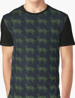 Space Husky Shepherd Mix Silhouette Graphic T-Shirt