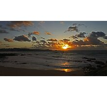 Sunset over Fistral beach Newquay Photographic Print