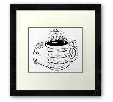 Human Coffee Framed Print
