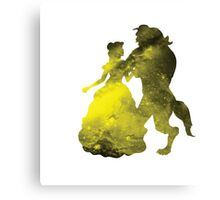 Beauty and the Beast Galaxy Canvas Print