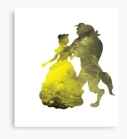 Beauty and the Beast Galaxy Metal Print