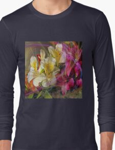 Floral Inspiration (Square Version) - By John Robert Beck Long Sleeve T-Shirt