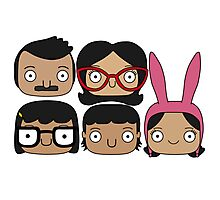 Bobs Burgers Character Doodle Photographic Print