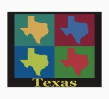 Colorful Texas Pop Art Map Kids Clothes