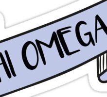 CHI OMEGA ribbon Sticker
