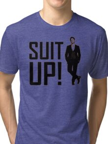 himym Barney Stinson Suit Up How I Met Your Mother Tri-blend T-Shirt