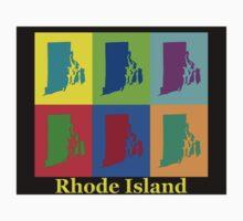 Colorful Rhode Island Pop Art Map Kids Clothes