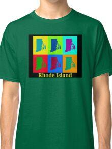 Colorful Rhode Island Pop Art Map Classic T-Shirt