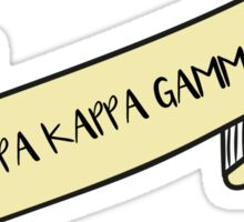 KAPPA KAPPA GAMMA ribbon Sticker
