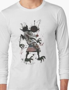 Mickey Mouse - Fear and Loathing - Ralph Steadman Long Sleeve T-Shirt