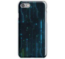 Black-blue light circuit iPhone Case/Skin