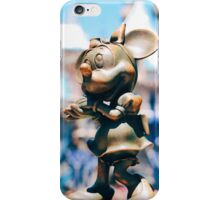 Minnie Mouse with Diamond Castle Background  iPhone Case/Skin