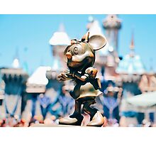 Minnie Mouse with Diamond Castle Background  Photographic Print