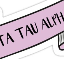 ZETA TAU ALPHA ribbon Sticker