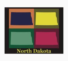 Colorful North Dakota Pop Art Map Kids Clothes
