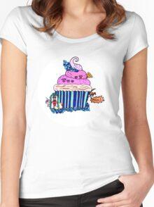 Emily Bett - Precious Unicorn Cupcake Women's Fitted Scoop T-Shirt