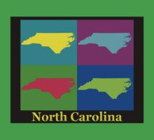 Colorful North Carolina Pop Art Map T-Shirt