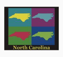 Colorful North Carolina Pop Art Map Kids Clothes