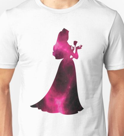Sleeping Beauty Pink Galaxy Unisex T-Shirt