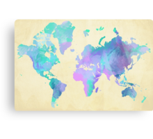 Colouring The World Canvas Print