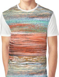 Tangerine Dusk - Oil Pastel Graphic T-Shirt