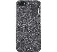 Bristol Map, England - Gray iPhone Case/Skin