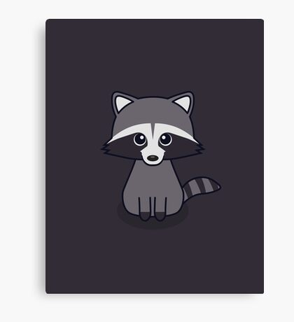 Cute Racoon Canvas Print