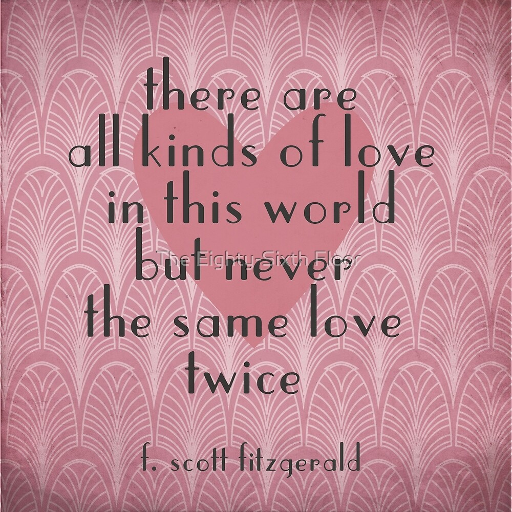 F. Scott Fitzgerald Illustrated Quote by The Eighty-Sixth Floor