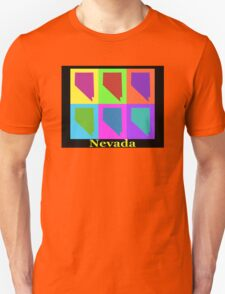 Colorful Nevada State Pop Art Map Unisex T-Shirt