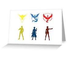 Team Stickers Greeting Card