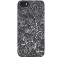 Leeds Map, England - Gray iPhone Case/Skin