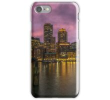 The Boston Waterfront. iPhone Case/Skin