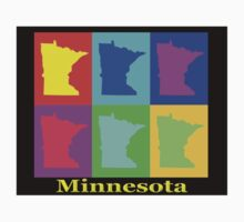 Colorful Minnesota State Pop Art Map Kids Clothes