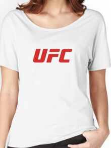 UFC Logo Blood Red | 2016 Women's Relaxed Fit T-Shirt