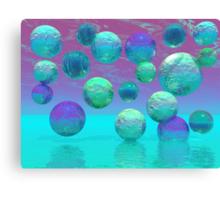Ocean Dreams - Aqua and Violet Ocean Fantasy Canvas Print