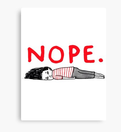 NOPE funny Canvas Print