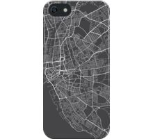 Liverpool Map, England - Gray iPhone Case/Skin