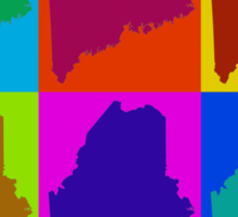 Colorful Maine Pop Art Map Sticker