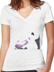 Pandas Women's Fitted V-Neck T-Shirt