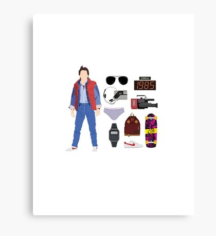 Back to the Future : Time Traveler Essentials 1985 Canvas Print