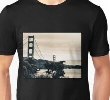 San Francisco Golden Gate Sepia  Unisex T-Shirt