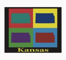 Colorful Kansas Pop Art Map Kids Clothes