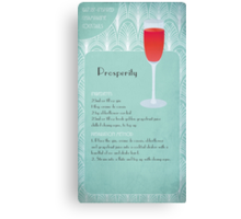 Prosperity Champagne Cocktail Canvas Print