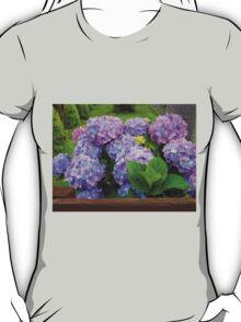 Beautiful Hydrangea Blossoms - Blue, Purple and Pink T-Shirt