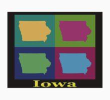Colorful Iowa Pop Art Map Kids Clothes