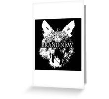 Brand New Animal Head Greeting Card